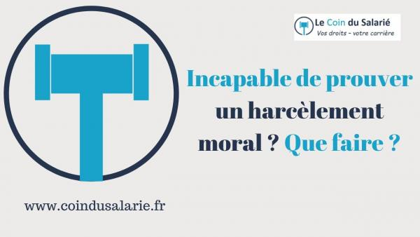 alternative au harcèlement moral